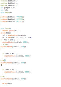 Potentiometer code
